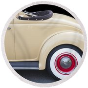 1936 Ford Cabriolet  Round Beach Towel