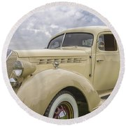 1936 Hudson Terraplane Truck Round Beach Towel