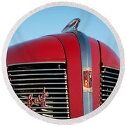 1937 Buick Boattail Roadster Grille Emblems Round Beach Towel