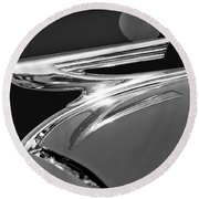 1937 Chevrolet Hood Ornament Round Beach Towel