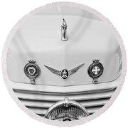 1937 Cord 812 Sc Convertible Phaeton Sedan Grille Emblems Round Beach Towel