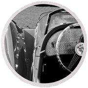 1937 Peugeot 402 Darl'mat Legere Speacial Sport Roadster Recreation Steering Wheel Emblem Round Beach Towel
