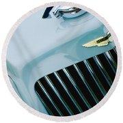 1939 Aston Martin 15-98 Abbey Coachworks Swb Sports Grille Emblem Round Beach Towel