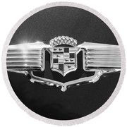 1941 Cadillac Emblem Round Beach Towel by Jill Reger