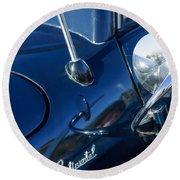 1941 Lincoln Continental Convertible Emblem Round Beach Towel