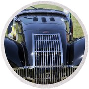 1947 Allard K1 Roadster Round Beach Towel