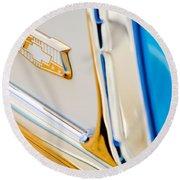 1953 Chevrolet Belair Convertible Emblem Round Beach Towel