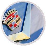 1954 Cadillac Coupe Deville Emblem Round Beach Towel