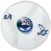 1954 Kaiser-darrin Roadster Emblem Round Beach Towel