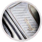 1955 Lincoln Capri Emblem Round Beach Towel