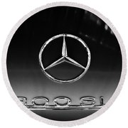 1955 Mercedes-benz Gullwing 300 Sl Emblem Round Beach Towel