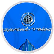 1956 Alfa Romeo Sprint Veloce Coupe Emblem Round Beach Towel