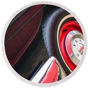 1957 Ford Fairlane Convertible Wheel Emblem Round Beach Towel