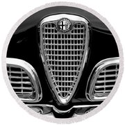 1959 Alfa Romeo Giulietta Sprint Grille Round Beach Towel