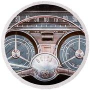 1959 Buick Lesabre Steering Wheel Round Beach Towel