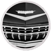 1959 Cadillac Eldorado Grille Emblem Round Beach Towel