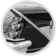 1959 Desoto Adventurer Convertible Tail Light Emblem Round Beach Towel