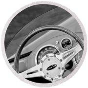 1959 Devin Ss Steering Wheel Round Beach Towel