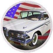 1959 Edsel Ford Ranger Round Beach Towel