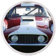1959 Ferrari 250 Gt Lwb Berlinetta Tdf Round Beach Towel