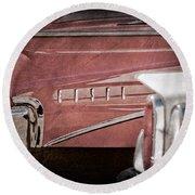 1960 Edsel Taillight Round Beach Towel