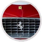 1960 Ferrari 250 Gt Swb Berlinetta Competizione Grille Emblem Round Beach Towel