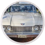 1960 Ford Starliner Round Beach Towel