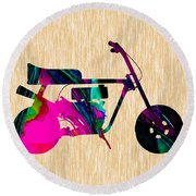 1960s Mini Bike Round Beach Towel