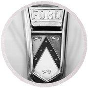 1963 Ford Falcon Futura Convertible  Emblem Round Beach Towel