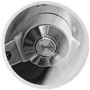 1963 Studebaker Avanti Steering Wheel Round Beach Towel