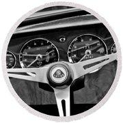 1965 Lotus Elan S2 Steering Wheel Emblem Round Beach Towel by Jill Reger
