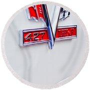 1966 Chevrolet Biscayne Emblem Round Beach Towel
