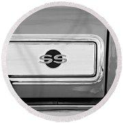 1966 Chevrolet II Ss L79 Taillight Emblem Round Beach Towel