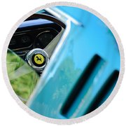 1966 Ferrari 275 Gtb Steering Wheel Emblem Round Beach Towel