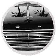 1966 Ford Galaxie 500 Convertible Grille Emblem - Hood Ornament Round Beach Towel