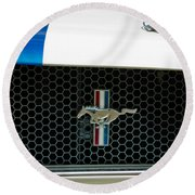 1966 Shelby Gt 350 Grille Emblem Round Beach Towel