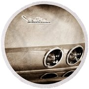 1967 Chevrolet Corvette Taillight Round Beach Towel