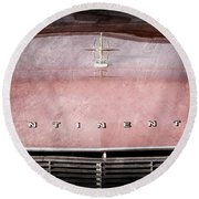1967 Lincoln Continental Hood Ornament - Emblem Round Beach Towel