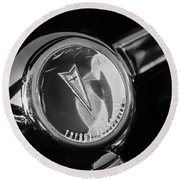 1967 Pontiac Firebird Steering Wheel Emblem Round Beach Towel