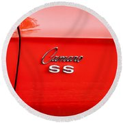 1969 Chevy Camaro Ss 396 Painted Round Beach Towel