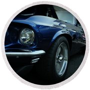 1969 Ford Mustang Mach 1 Fastback Round Beach Towel by Paul Ward