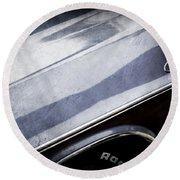 1970 Dodge Challenger Rt Convertible Emblems Round Beach Towel by Jill Reger