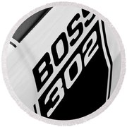 1970 Ford Mustang Boss 302 Emblem Round Beach Towel