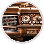 1971 Buick Gs Round Beach Towel