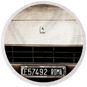 1972 Ferrari 365 Gtb -4a Grille Emblem Round Beach Towel