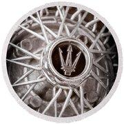 1972 Maserati Ghibli 4.9 Ss Spyder Wheel Emblem Round Beach Towel