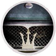 1972 Maserati Ghibli Grille - Hood Emblems Round Beach Towel