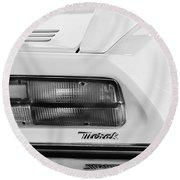 1974 Maserati Merak Taillight Emblem -1265bw Round Beach Towel