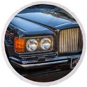 1990 Bentley Turbo R Round Beach Towel