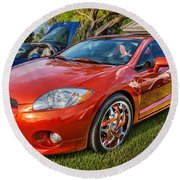 2006 Mitsubishi Eclipse Gt V6 Painted Round Beach Towel